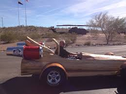 motorized car the cedar rocket is the fastest all electric log car in the world