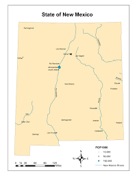 New Mexico State Map by Ce 547 Gis For Hydrology Assignment 1