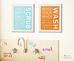 Ideas For Kids Bathroom by Decorating Purple Wall Quotes Bathroom Wall Art Above The Sink