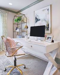 White Home Office Desks Best 25 White Desk Office Ideas On Pinterest Home Office White