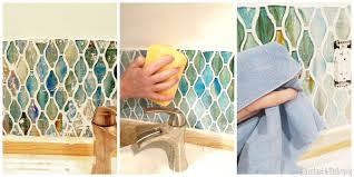 Glass Tile Backsplash Install by Operation Laundry Room The Backsplash Reality Daydream