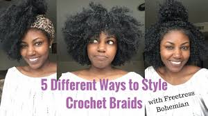 how to style crochet braids with freetress bohemia hair 5 different ways to style crochet braids with no leave out with
