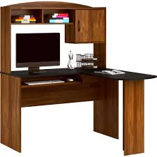 Office Desk Black by Mainstays L Shaped Desk With Hutch Multiple Finishes Walmart Com