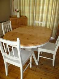 Shabby Chic White Dining Table by Shabby Chic Solid Pine Round Extending Dining Table Upcycled In
