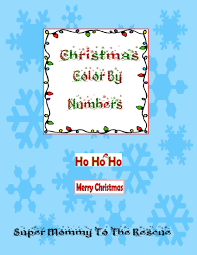 free christmas color numbers super mommy rescue