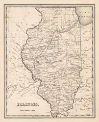 Chicago Il Map by 1838 Illinois U2013 Hjbmaps Com Harlan J Berk Ltd Antique Map