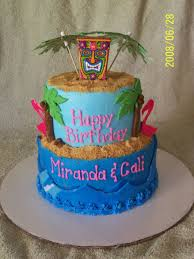 Luau Cake Decorations Luau Cake Cakecentral Com
