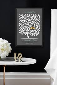 tree signing for wedding wedding guest book poster bridal gift signing tree