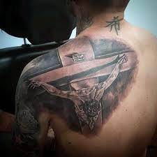 collection of 25 christian on left shoulder blade