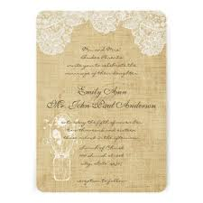 Lace Wedding Invitations 34 Burlap And Lace Wedding Invitations Vizio Wedding