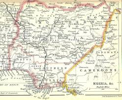 Niger Africa Map by Southern Nigeria Protectorate