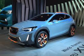 blue subaru crosstrek subaru xv concept revealed at 2016 geneva motor show by car magazine