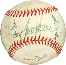 Johnny Bench Autograph Cincinnati Reds Baseball Signed With Cosigners Autographs