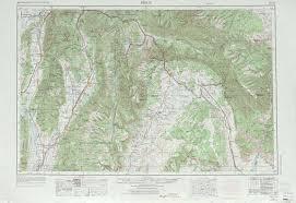 Park City Utah Map Price Topographic Maps Ut Usgs Topo Quad 39110a1 At 1 250 000 Scale