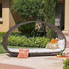 Outdoor Wicker Daybed Bedford Outdoor Wicker Overhead Canopy Daybed W Water Resistant