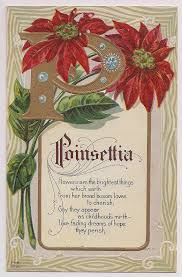 antique poinsettia poem holiday christmas by vintagepackrat 4 00