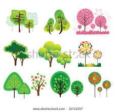 cute trees 24 cute trees vector stock vector 48669427 shutterstock