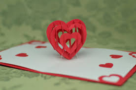 valentine u0027s day pop up card 3d heart tutorial creative pop up cards