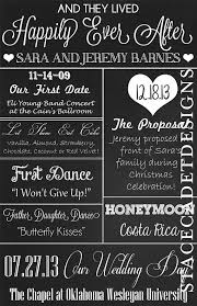 wedding program board wedding chalkboard
