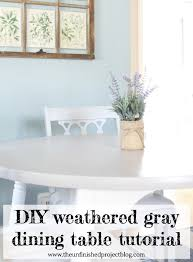 diy weathered gray table with chalk paint the unfinished project