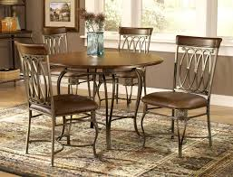Hillsdale Cameron  Piece Round Wood And Metal Dining Table Set - Metal kitchen table