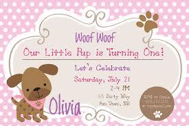 Birthday Cards Invitations Dog Birthday Party Invitations Puppy Dog Party Invites 1st