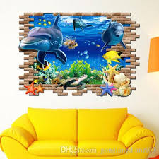 dolphin home decor 3d ocean dolphins home decor removable wall sticker decal kids room
