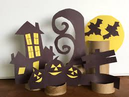 halloween scene toilet paper tube paper craft