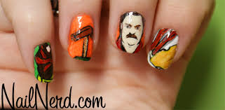 Ron Swanson Circle Desk Episode Nail Nerd Nail Art For Nerds Ron Swanson Nails