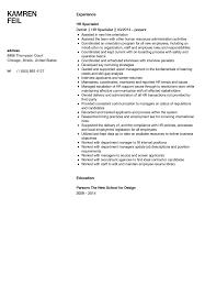 international relations specialist resume hr specialist resume sample velvet jobs