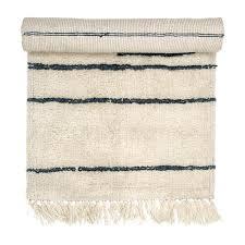 White Runner Rug White Wool Runner Rug With Grey Stripes Tassels As Seen In