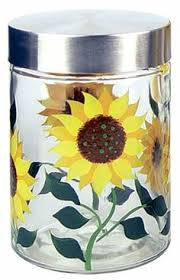 sunflower canisters for kitchen sunflower serving pieces 20 25 sunflower
