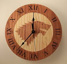 pine game of thrones clock house stark clock wood clock wall