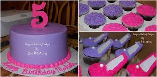 girly pink u0026 purple with high heel shoe cupcakes cakecentral com