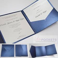 New Ideas For Wedding Invitation Cards Royal Dark Blue Square Wedding Invitation Envelopes Diy Pocket