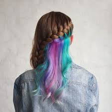 rainbow color hair ideas people are obsessed with this new hidden rainbow hair bored panda