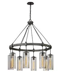 Square Chandelier Troy Lighting F5918 Union Square 36 Inch Wide 8 Light Chandelier