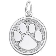 engravable sterling silver charms rembrandt charms paw print 925 sterling silver