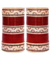 wedding chura 80 on lucky jewellery maroon bridal punjabi choora wedding