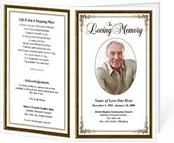 memorial program ideas memorial brochure ideas brochures