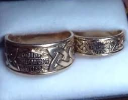wedding sets on sale sale solid 10k yellow gold harley davidson wedding set celtic