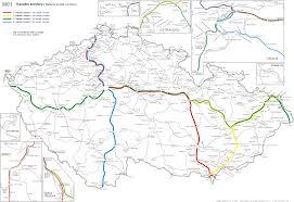 Trains In Europe Map by Czech Railways Train Network