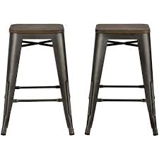 Backless Counter Stools Dorel Home Products Fusion 24