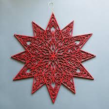 19 glitter snowflake hanging decoration