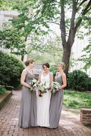 Light Gray Bridesmaid Dress Modern Philadelphia Wedding From Love Me Do