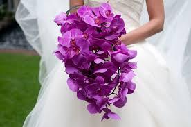 wedding flowers orchids magenta purple orchid bridal bouquets evantine design philadelphia