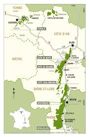 Burgundy France Map by De Bourgogne