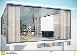 see through house exterior stock illustration image 73846803