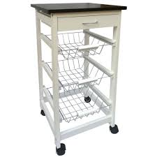 home discount 3 tier kitchen trolley cart storage baskets drawer