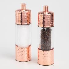 hammered copper salt and pepper grinder set world market